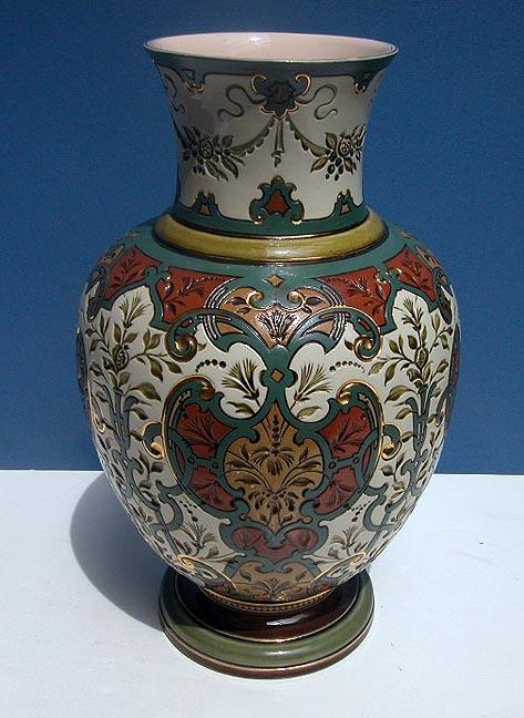 german mettlach vase villeroy and boch circa 1900 ebay. Black Bedroom Furniture Sets. Home Design Ideas