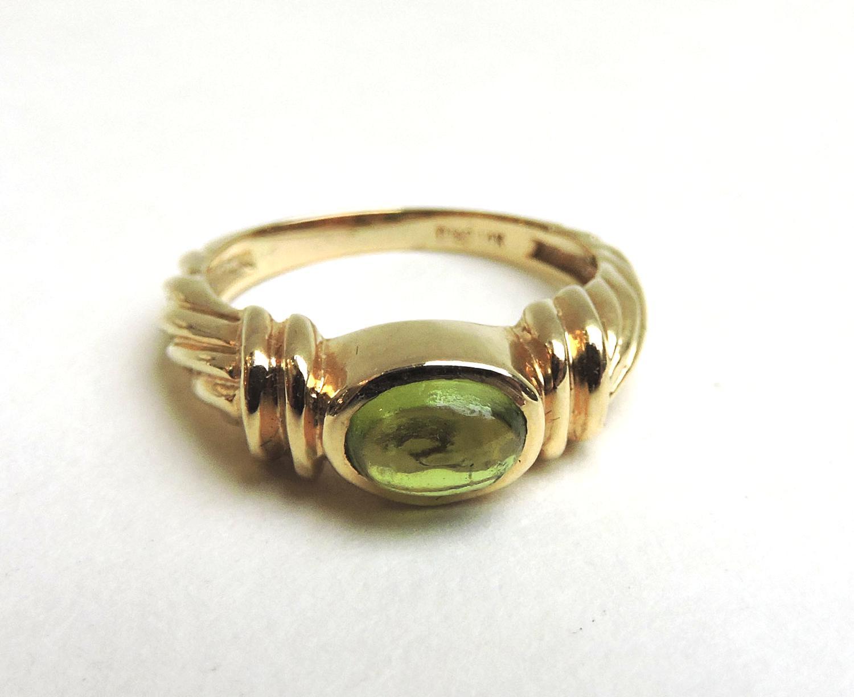 14 karat Gold 'Peridot' Ring