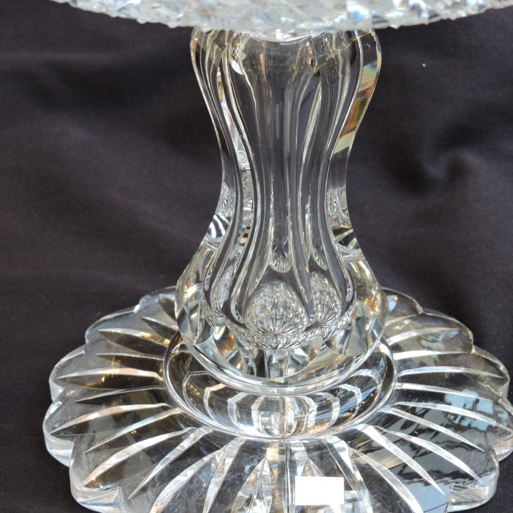 Large American Brilliant Cut Glass Pedestal Compote By