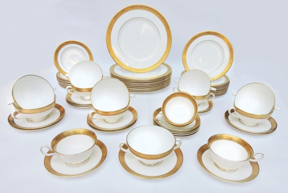 Wedgewood china set for 12 pattern ascot bernardis Wedgewood designs