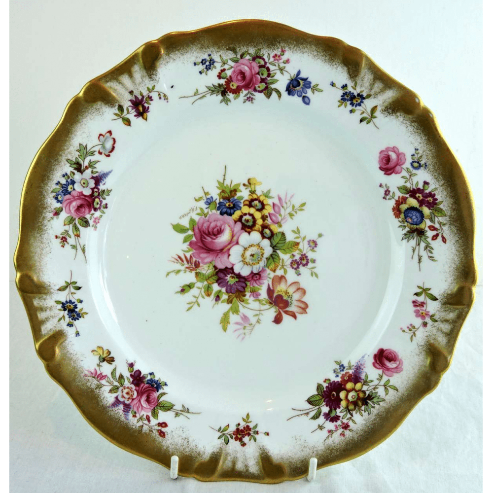 hammersley china dinner plates lady patricia pattern signed f howard china patterns - China Dinner Plates