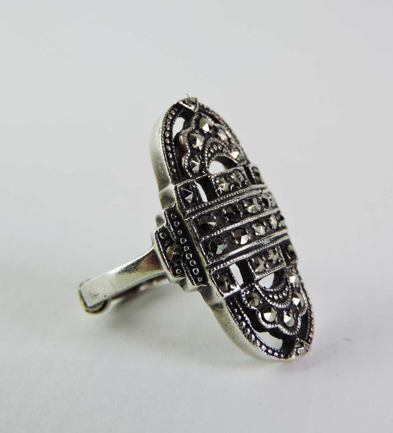 vintage marquesites costume jewelry ring bernardis antiques