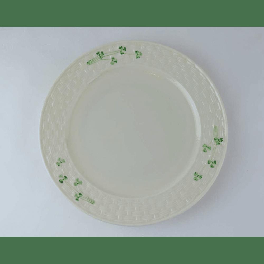 sc 1 st  Bernardis Antiques & Irish Belleek Shamrock Dinner Plates - Bernardis Antiques