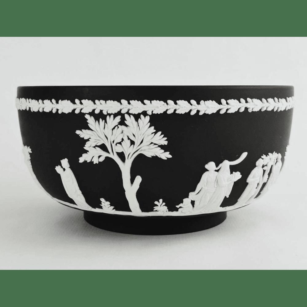 Black Amp White Basalt Wedgwood Jasperware Bowl Bernardis