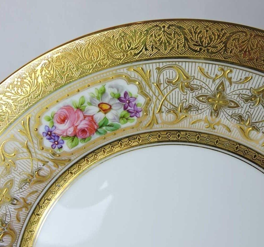 Sold & Set of 12 - Limoges France u0027Deposeu0027 Dinner Plates - William Junor ...