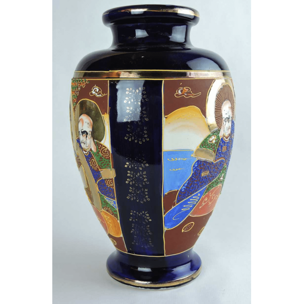Early 20th century hand painted satsuma vase with japanese figural early 20th century hand painted satsuma vase with japanese figural scene bernardis antiques reviewsmspy