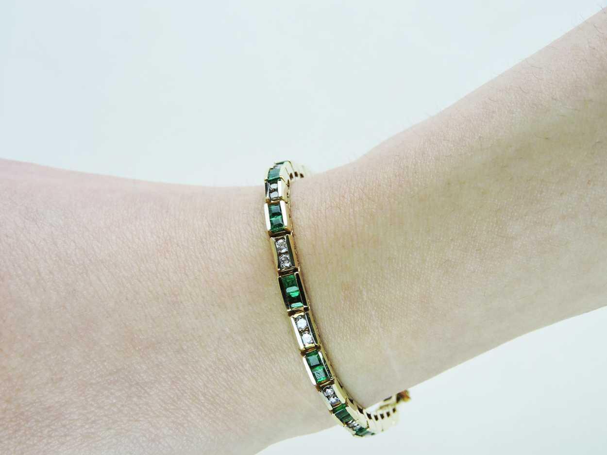 Karat Gold Diamond Tennis Bracelet