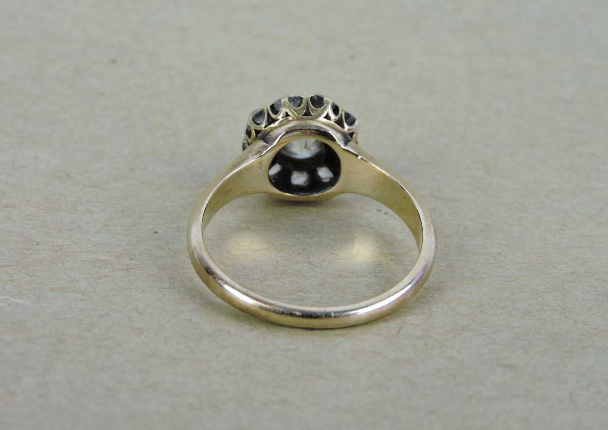 Late 19th Century 12kt Gold Amp Diamond Ring In Quot Victorian