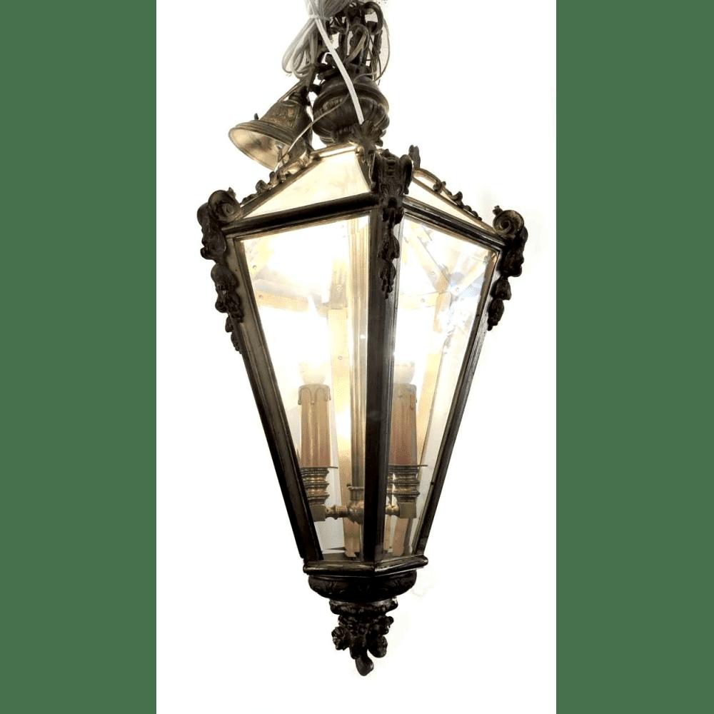 Light Fixtures Png: Hanging Glass Pendant & Bronze Light