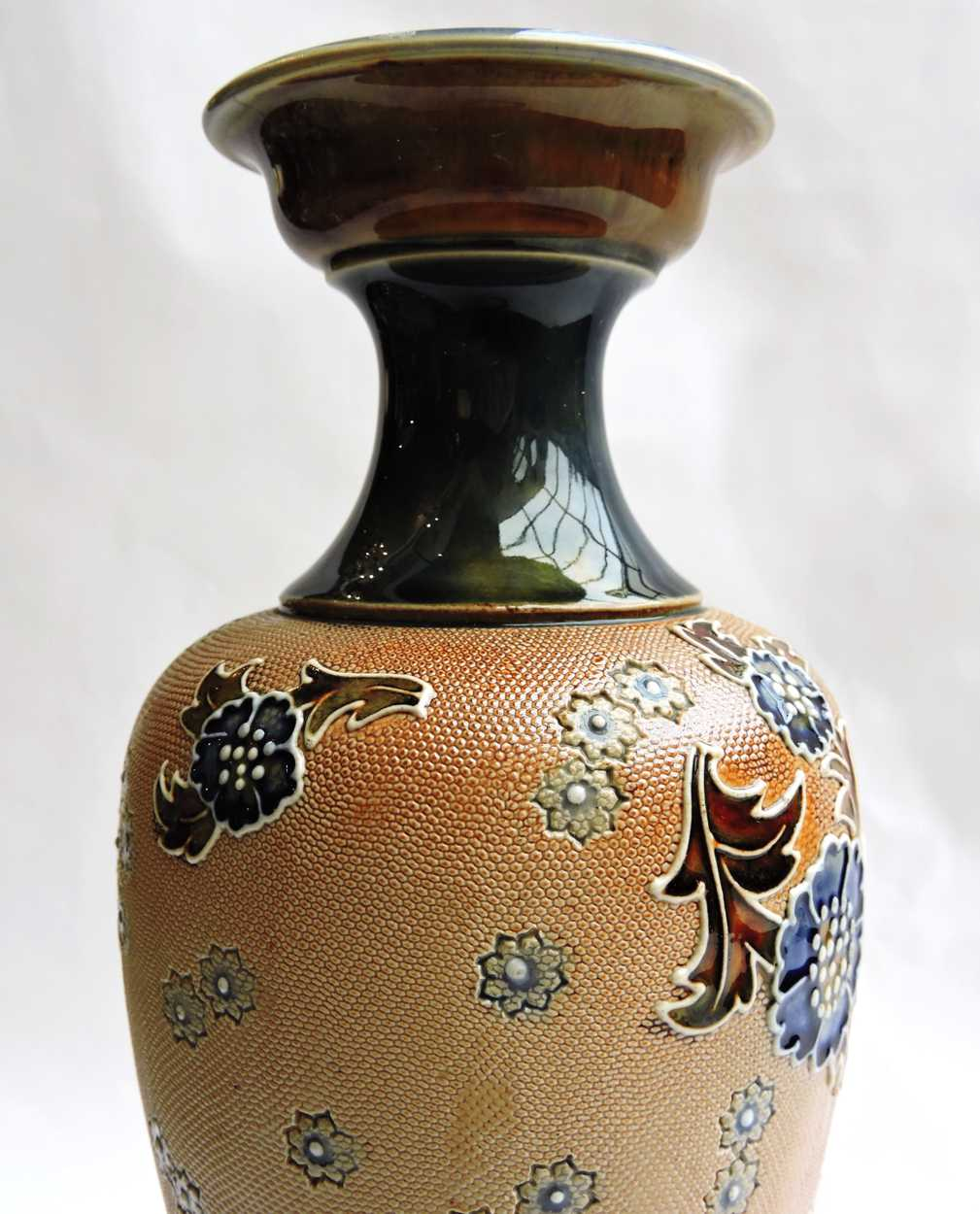 Late 19th Century Royal Doulton Lambeth Stone Ware Vase