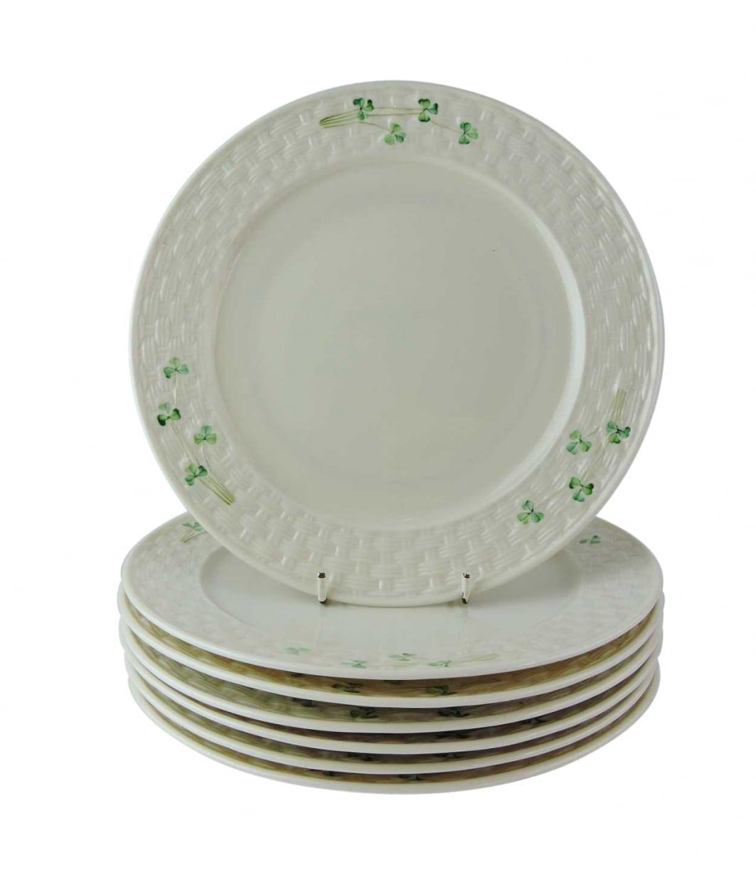 Belleek Shamrock Dinner Plate