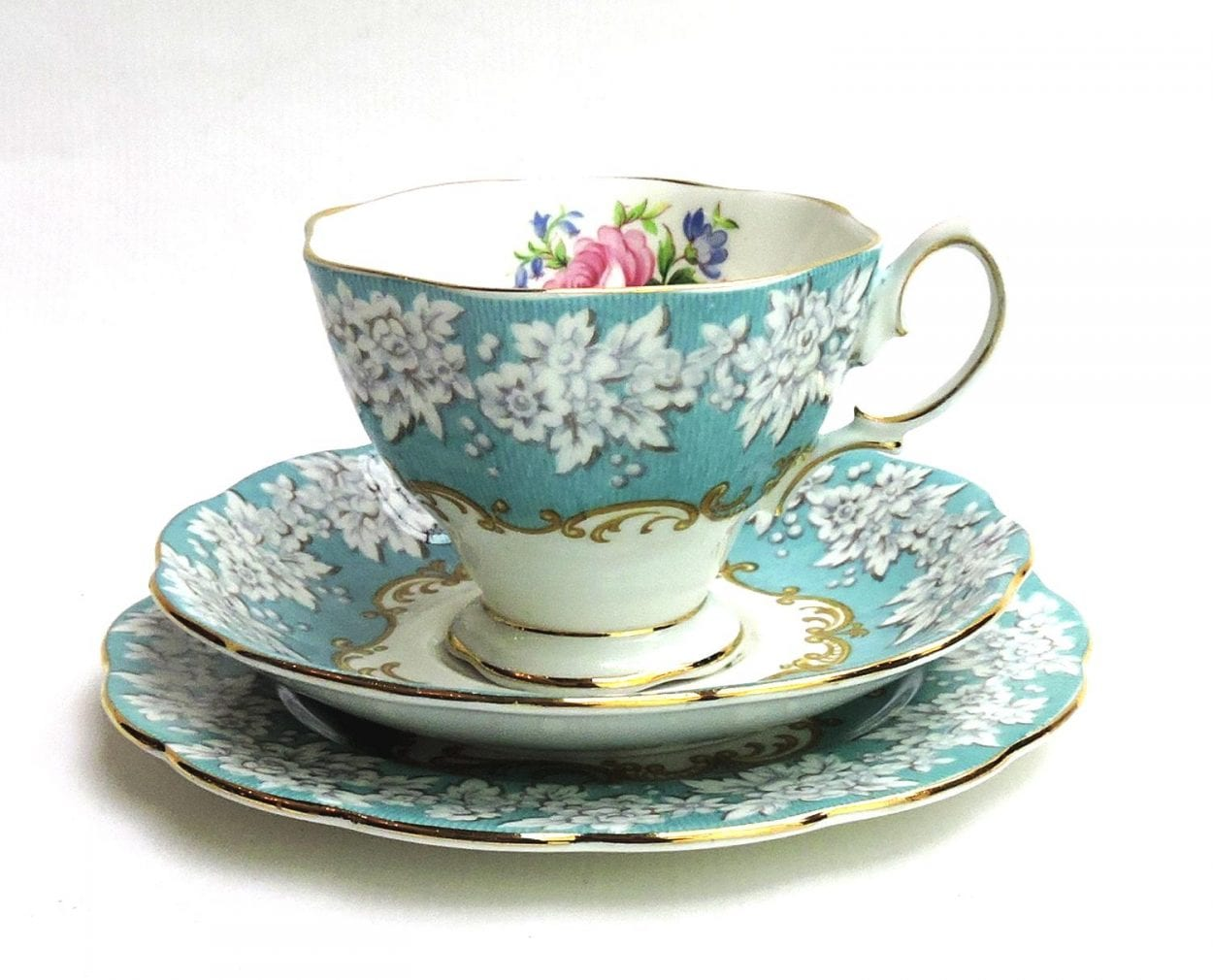 Royal Albert Bone China Cup Saucer And Plate Trio 2 Enchantment Pattern Bernardis Antiques