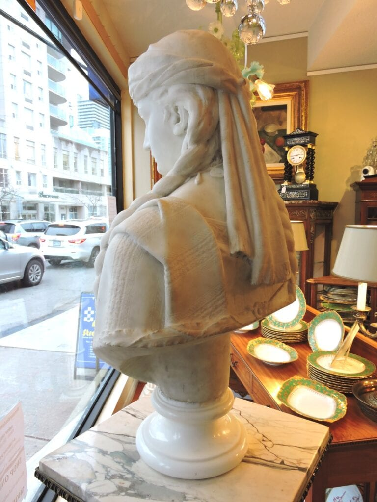 A Fine Italian 19th/20th Century Life-Size Carved Marble