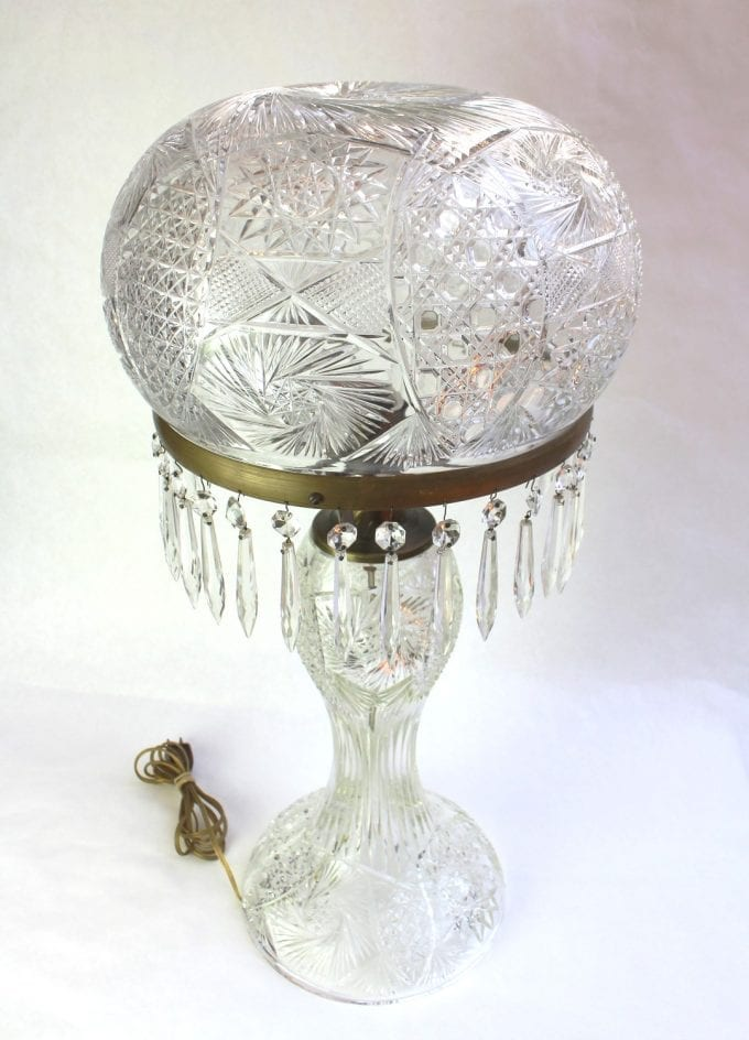 brilliant cut crystal lamp