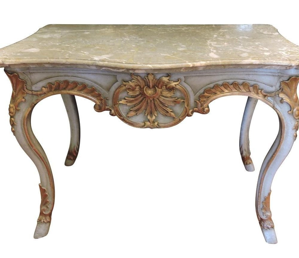 Marble top table - Late 19th Century Italian Marble Top Console Table