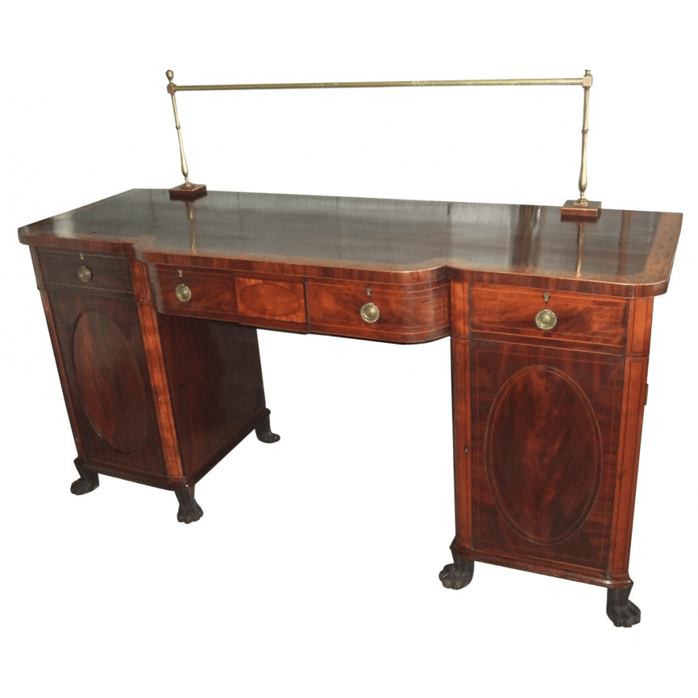 Large 6 1 2 Foot Mahogany Regency Period Sideboard Circa 1830 Bernardis Antiques