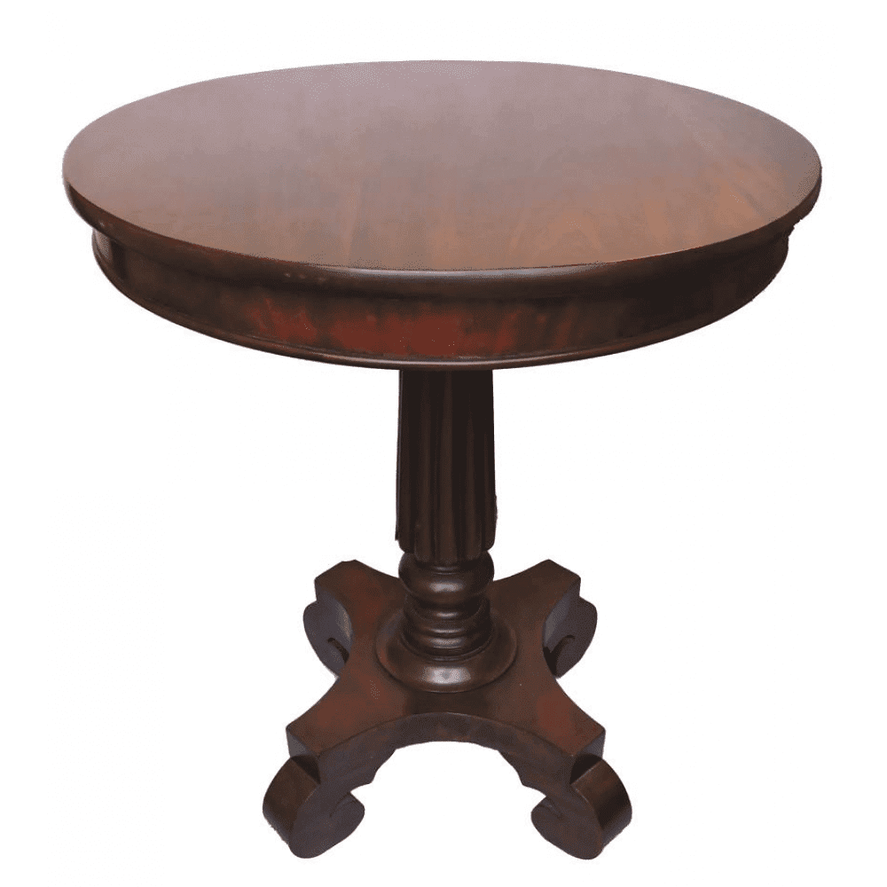Mahogany round pedestal side table circa 1870 for Pedestal table