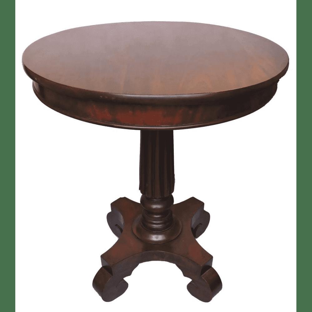 mahogany round pedestal side table circa 1870 bernardis antiques. Black Bedroom Furniture Sets. Home Design Ideas