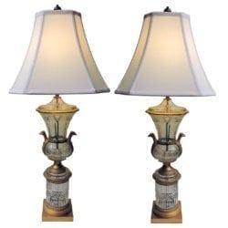 lampspairbronzecrystal