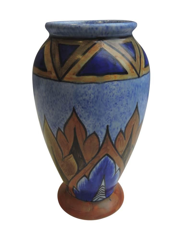 chameleon ware pottery art deco vase bernardis antiques. Black Bedroom Furniture Sets. Home Design Ideas