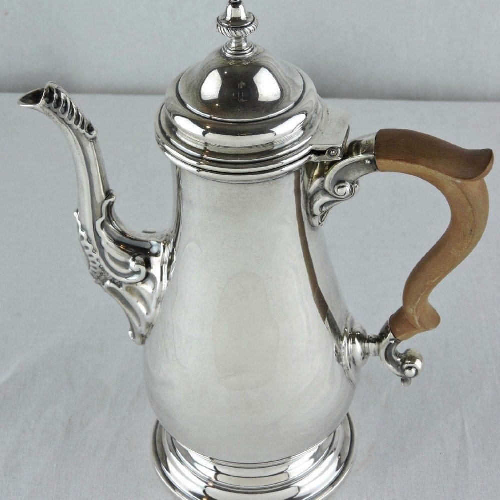 Birks sterling georgian style coffee pot dated 1965 bernardis