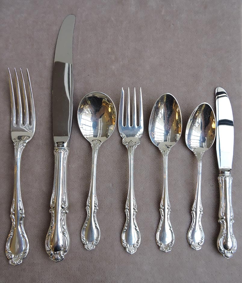 Cello Sterling By Northumbria Dinner Size Set For 12 Rare Dinner Size In Cello Bernardis